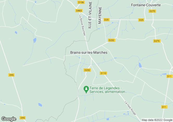 Map for brains-sur-les-marches, Mayenne, France