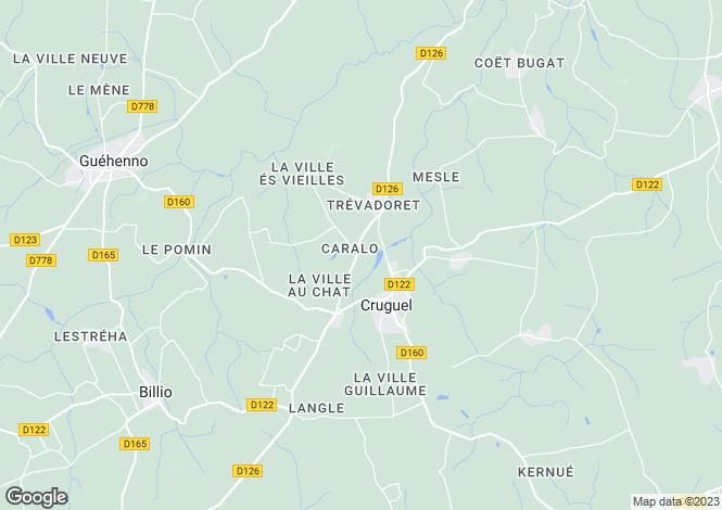 Map for CRUGUEL, 56420, France