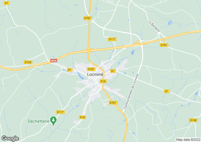 Map for Locminé, 56500, France