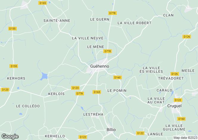 Map for JOSSELIN, Bretagne