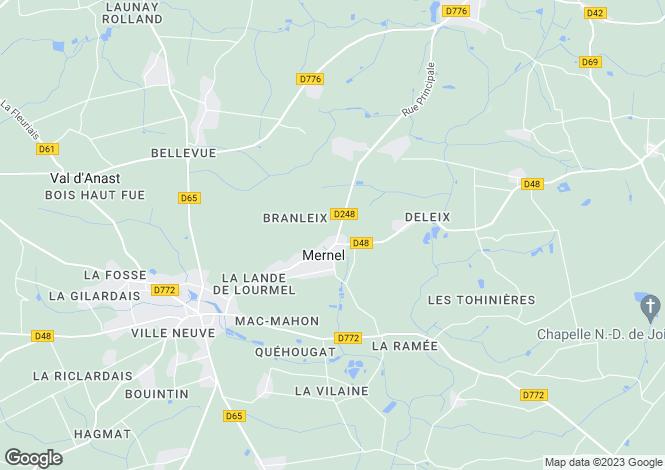 Map for Mernel, Ille-et-Vilaine, 35330, France