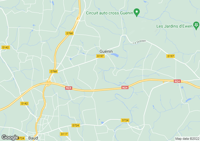 Map for Guénin ,Brittany ,France