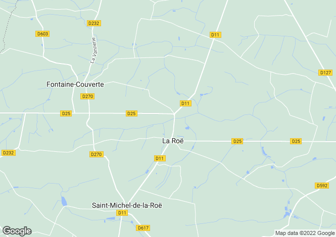 Map for la-roe, Mayenne, France