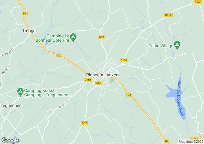 Map for ploneour-lanvern, Finistère, France