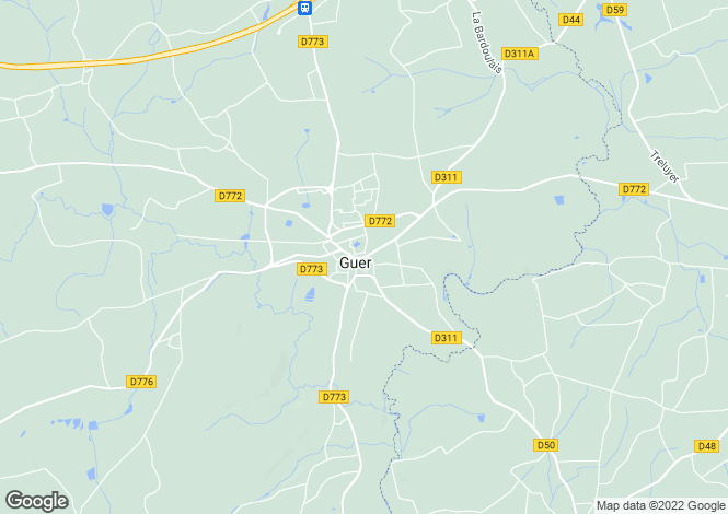 Map for GUER, Bretagne