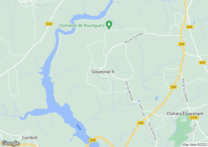 Map for gouesnach, Finistère, France