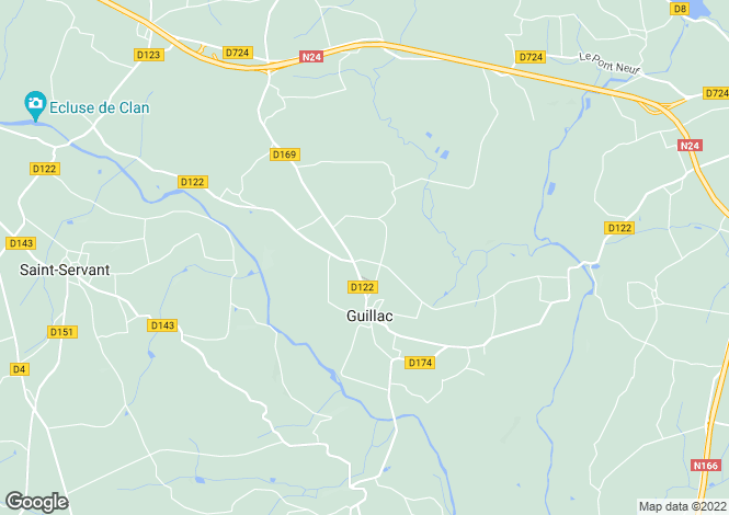 Map for guillac, Morbihan, France