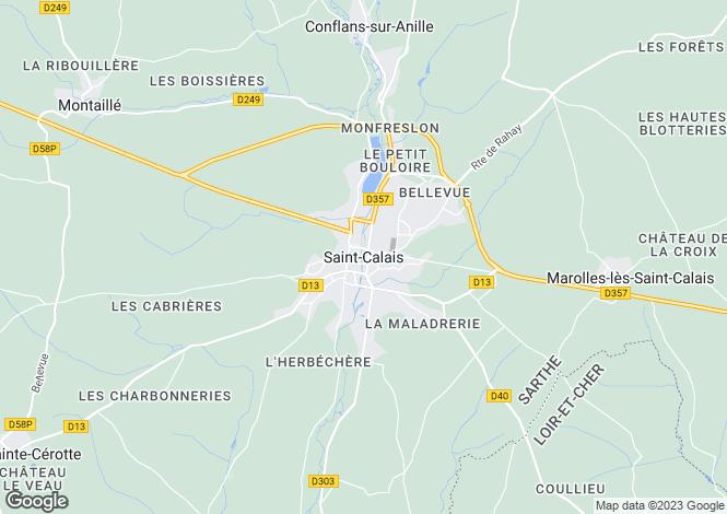 Map for Saint-Calais, Pays de la Loire, 72120, France