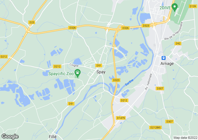 Map for Spay,France