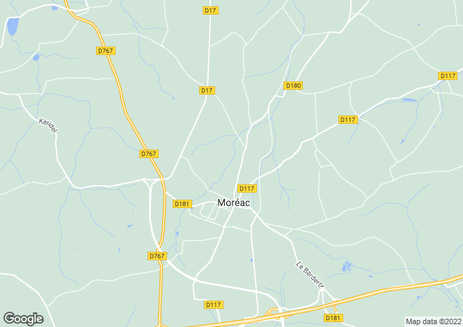 Map for Brittany, Morbihan, Moréac