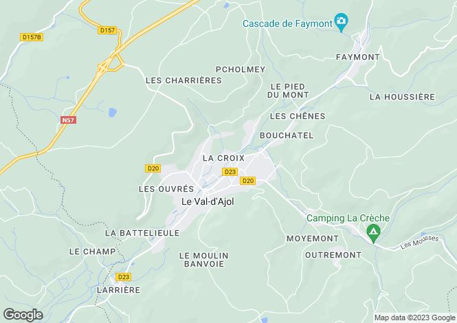 Map for Lorraine, Vosges, Le Val-d'Ajol
