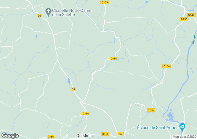Map for Quistinic, Morbihan, Brittany