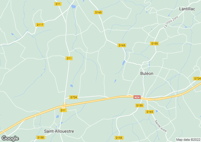 Map for BULEON, 56420, France