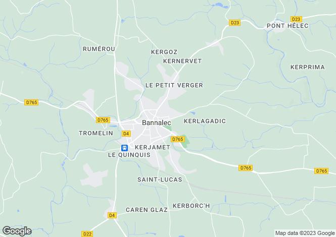 Map for bannalec, Finistère, France
