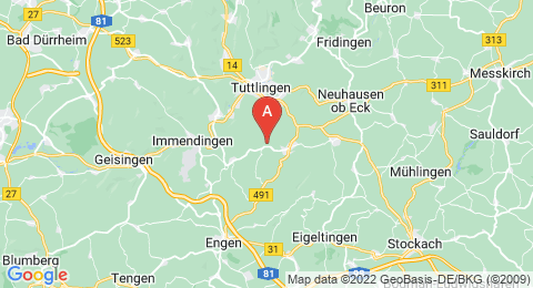 map of Witthoh (Germany)