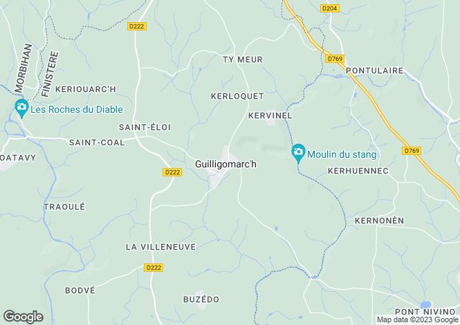Map for guilligomarch, Finistère, France