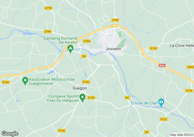 Map for Guégon ,Brittany ,France