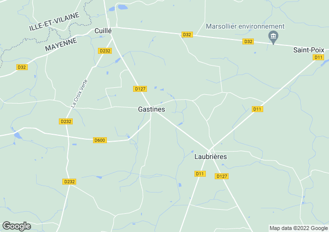 Map for gastines, Mayenne, France