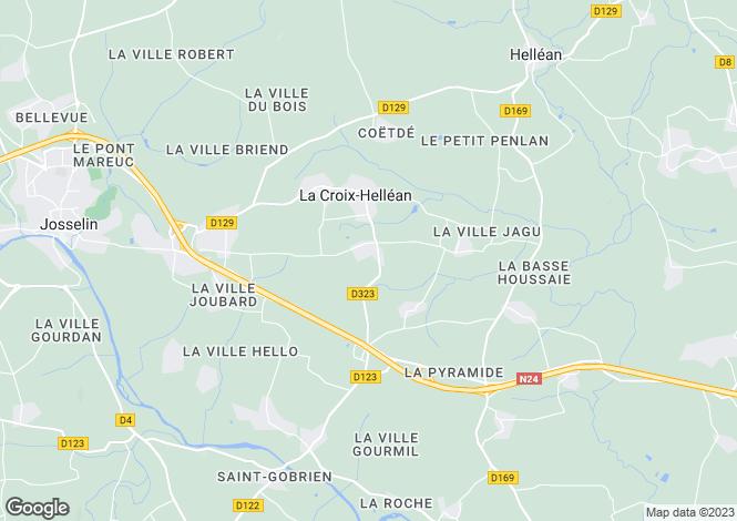 Map for La Croix-Hellean, Morbihan, 56120, France