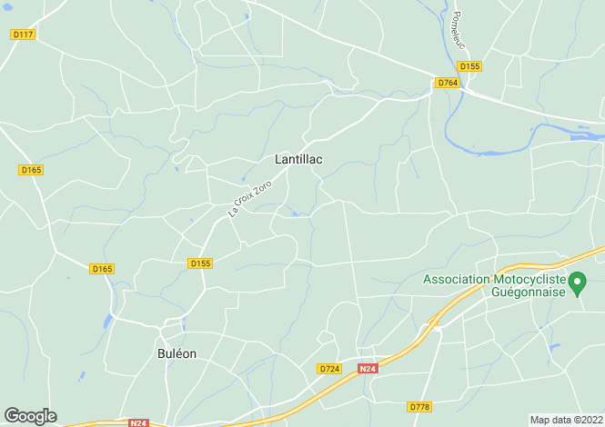 Map for Brittany, Morbihan, Lantillac