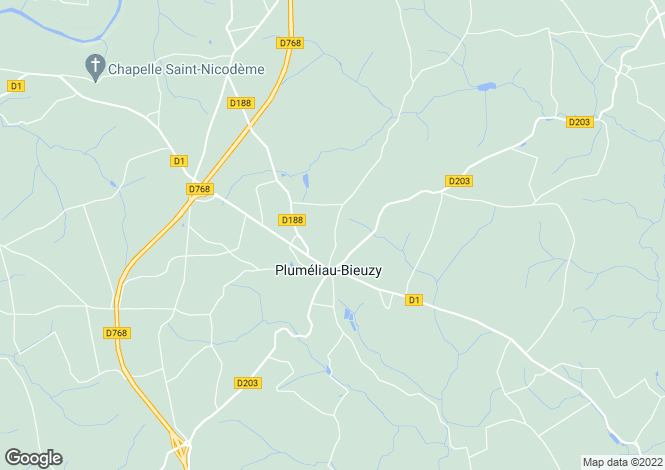 Map for plumeliau, Morbihan, France