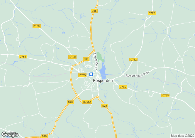 Map for ROSPORDEN, Bretagne