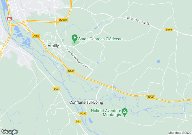 Map for Centre, Loiret, Amilly