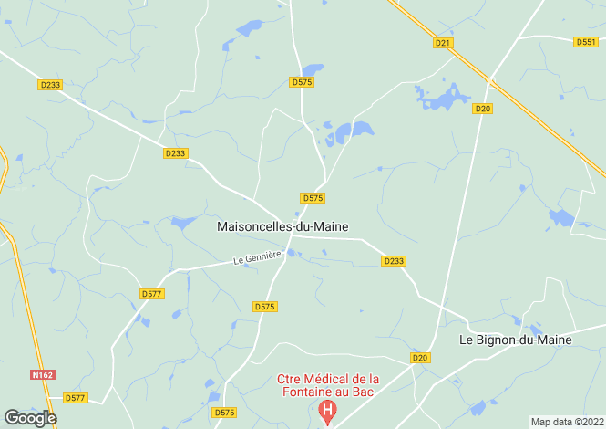 Map for maisoncelles-du-maine, Mayenne, France