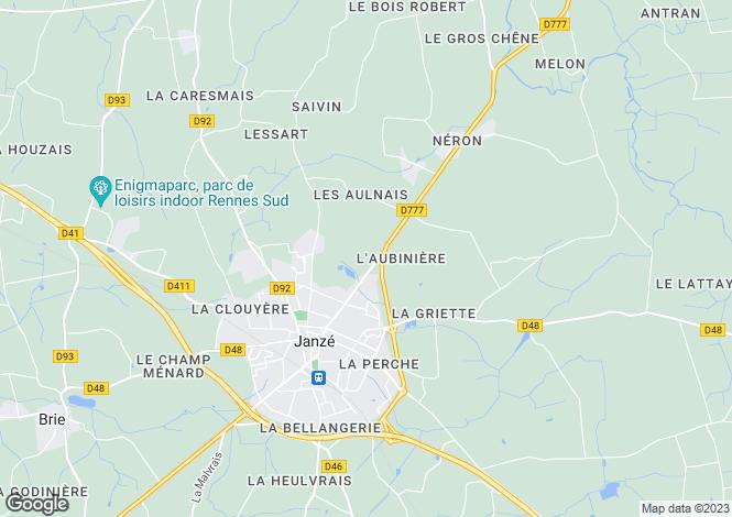 Map for JANZE, Bretagne