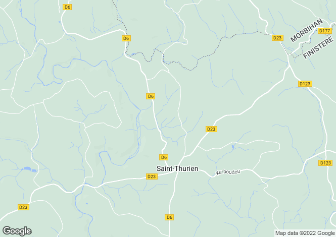 Map for st-thurien, Finistère, France