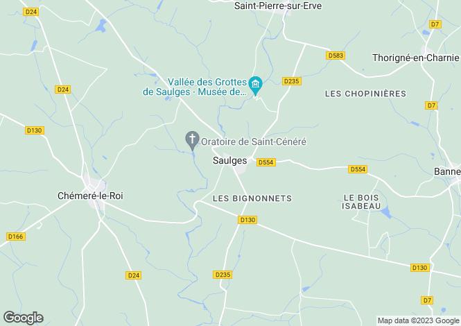 Map for Saulges ,Pays de la Loire ,France