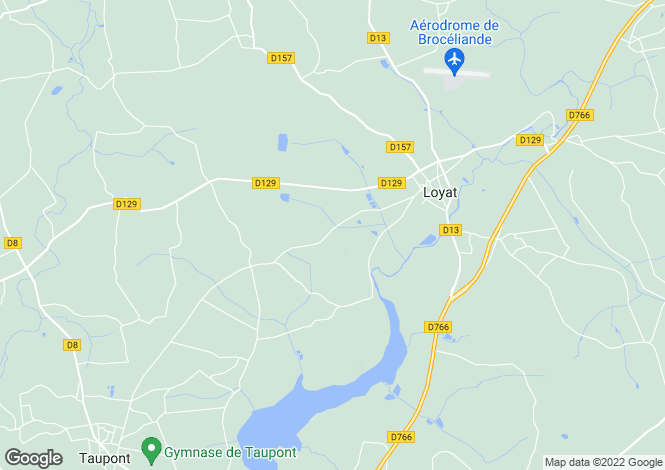 Map for loyat, Morbihan, France