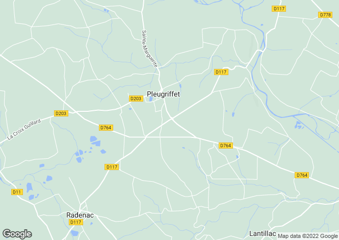 Map for PLEUGRIFFET, 56120, France