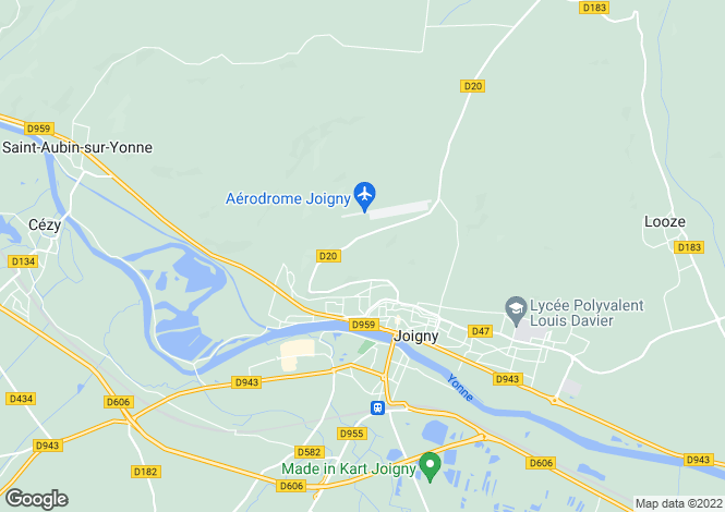 Map for Burgundy, Yonne, Joigny