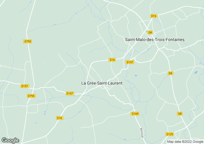 Map for La Gree-Saint-Laurent, Morbihan, 56120, France