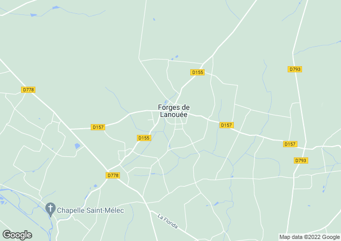Map for Lanouee, Morbihan, 56120, France