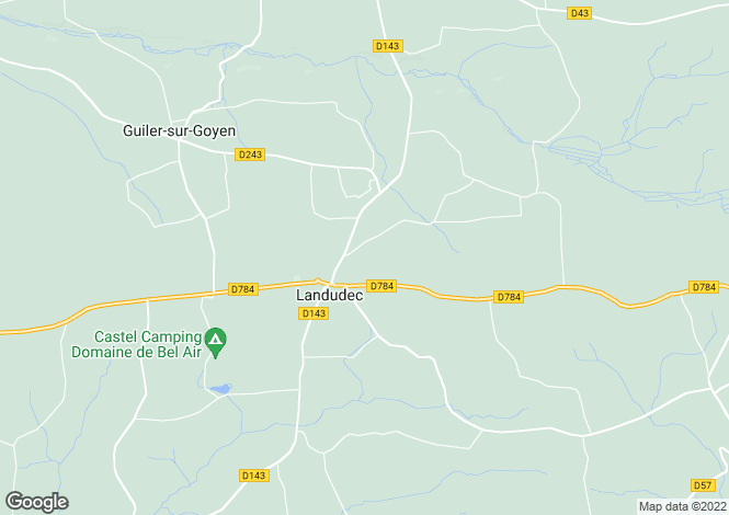 Map for Brittany, Finistère, Landudec