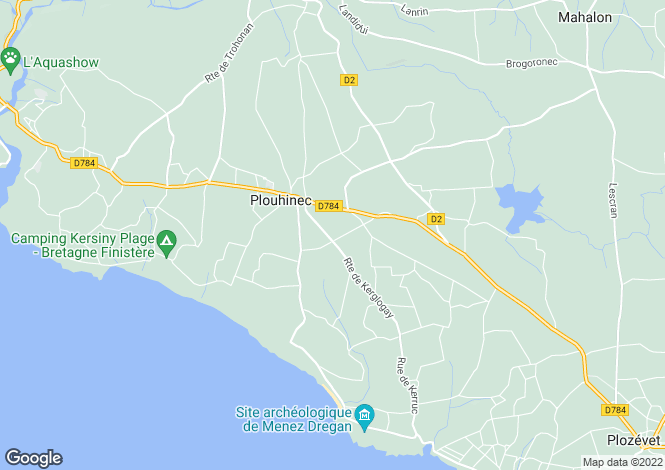 Map for plouhinec, Finistère, France