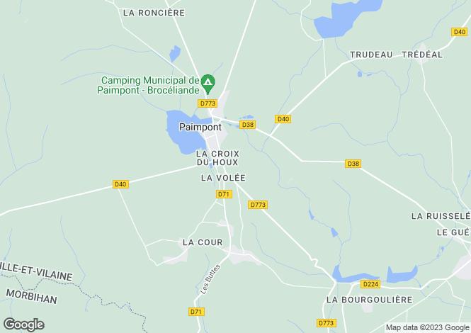 Map for paimpont, Ille-et-Vilaine, France