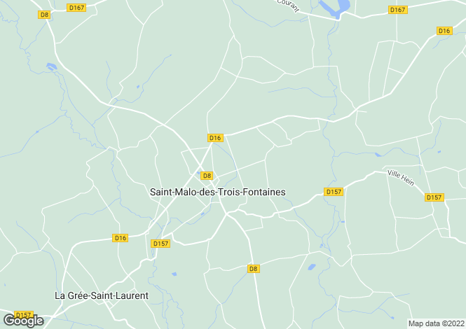 Map for Saint-Malo-des-Trois-Fontaines ,Brittany ,France