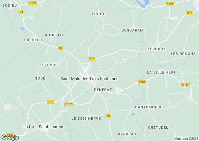 Map for st-malo-des-trois-fontaines, Morbihan, France