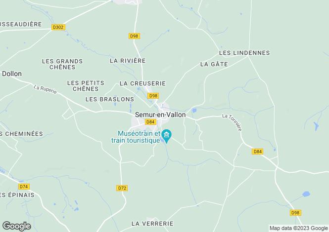 Map for Semur-en-Vallon, Sarthe, Pays de la Loire