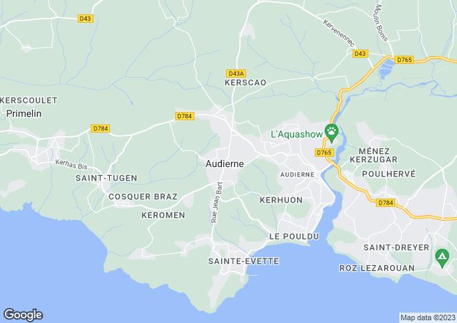 Map for esquibien, Finistère, France