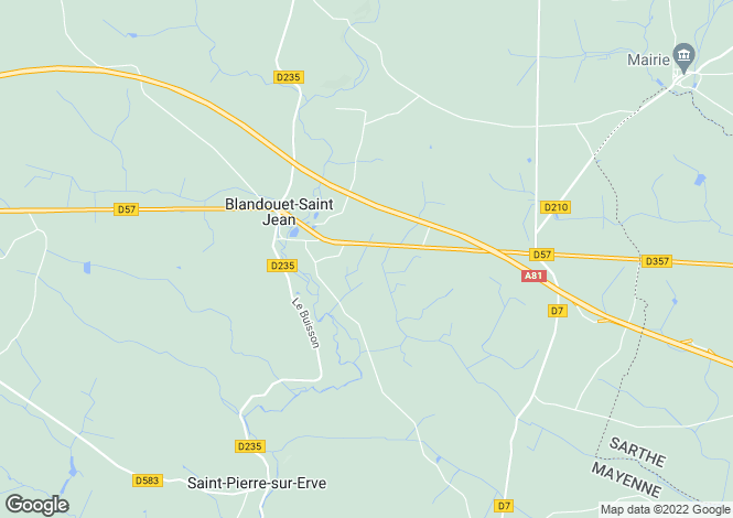 Map for st-jean-sur-erve, Mayenne, France