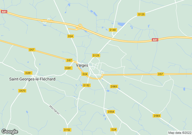 Map for vaiges, Mayenne, France