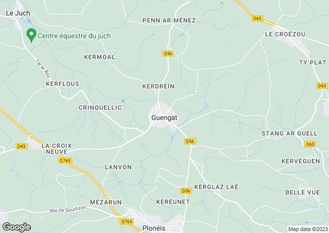 Map for guengat, Finistère, France