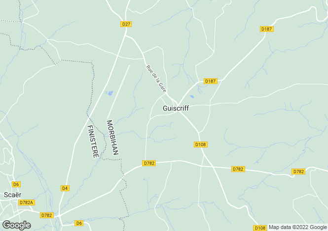 Map for Brittany, Morbihan, Guiscriff