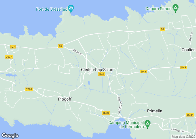 Map for cleden-cap-sizun, Finistère, France