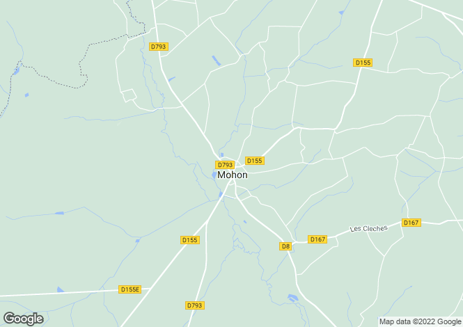 Map for mohon, Morbihan, France