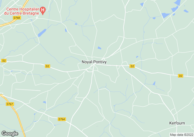Map for Brittany, Morbihan, Noyal-Pontivy